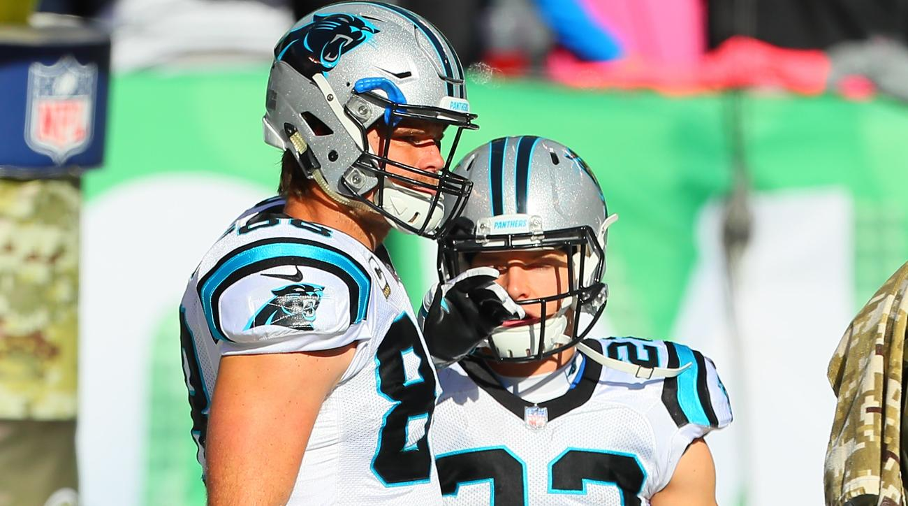 Panthers TE Greg Olsen leaves game with a foot injury