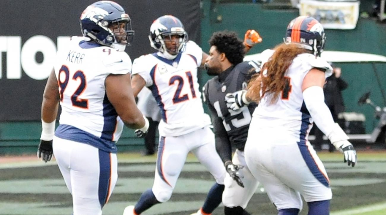 Denver Broncos Talib, Oakland Raiders Crabtree ejected after brawl