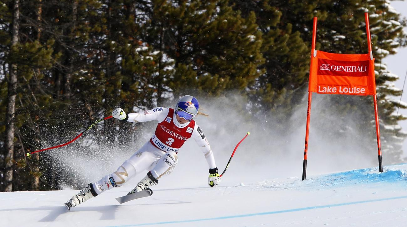 Alpine skiing: Huetter wins in Lake Louise as Vonn crashes