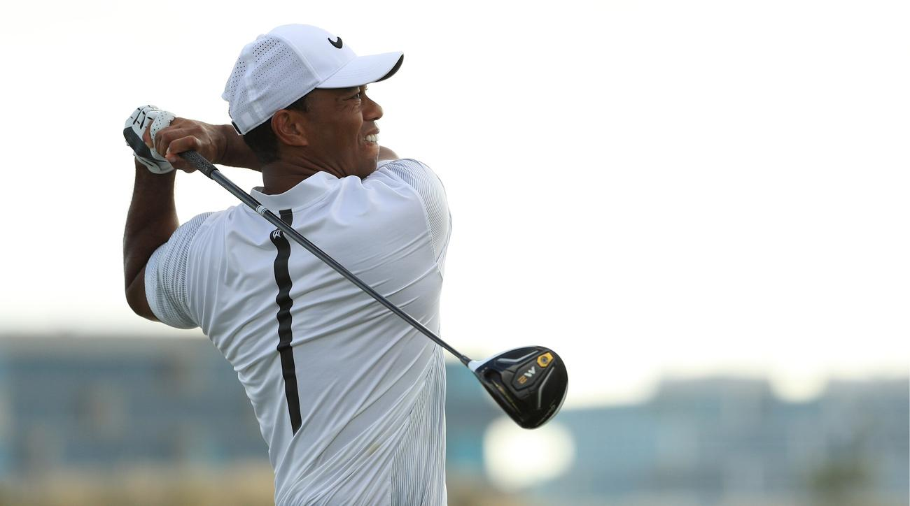 Tiger Woods hits a shot during the second round of the 2017 Hero World Challenge.
