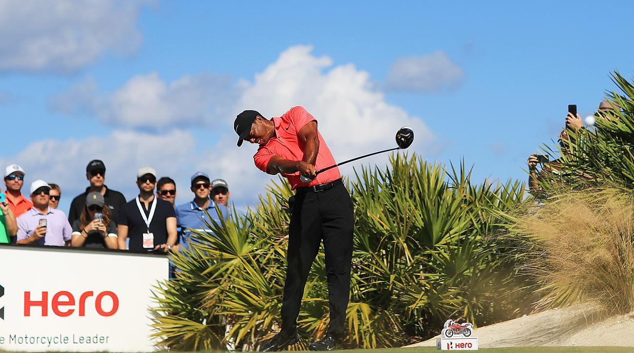Woods tied for ninth in the 18-man field at the Hero.