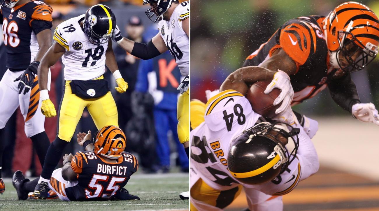 size 40 d6f27 79d40 Steelers' JuJu Smith-Schuster, Bengals' George Iloka Suspended One Game for  Hits to Head