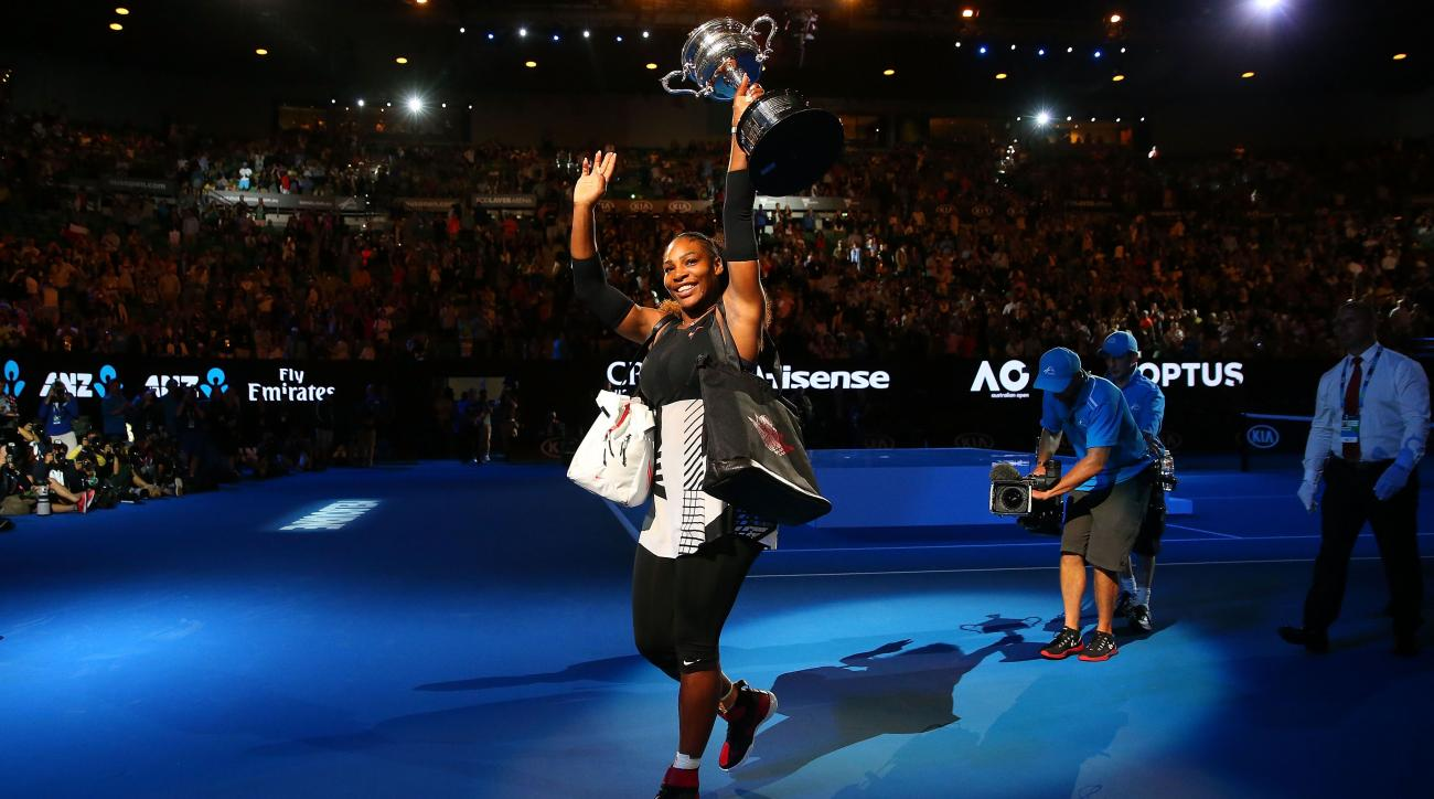 Serena Williams returns to the court following birth of baby daughter