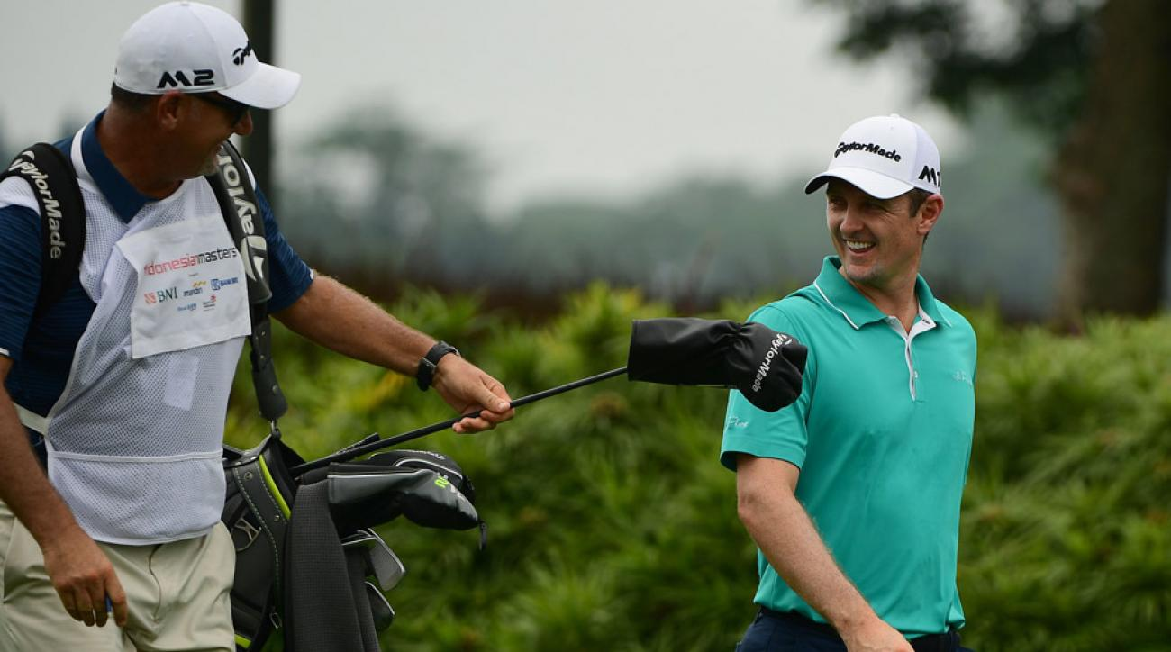 Justin Rose leads the weather-delayed Indonesian Open by three shots. He's currently eight holes into his third round.