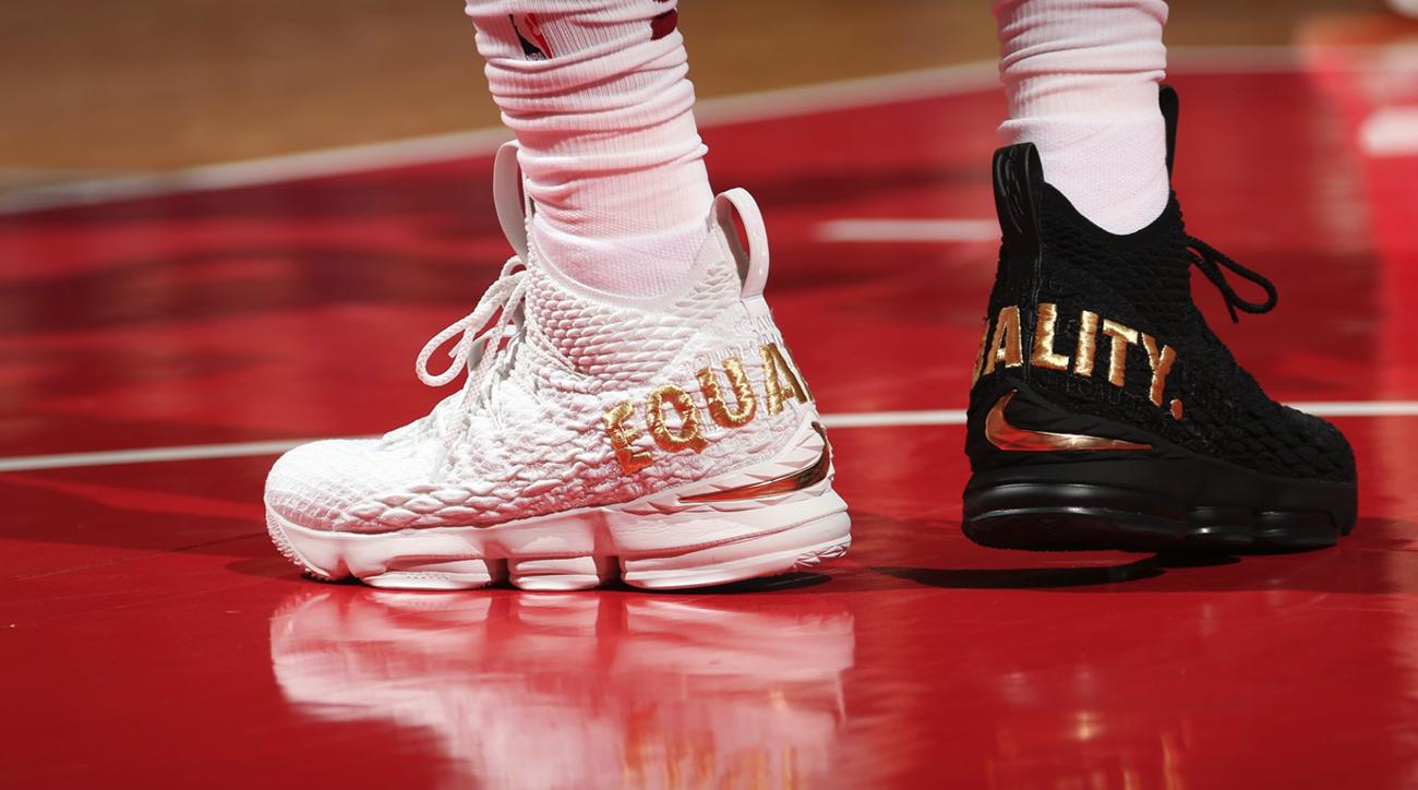 the latest c6b9a d18da LeBron James: Cavs star explains new 'Equality' shoes   SI.com