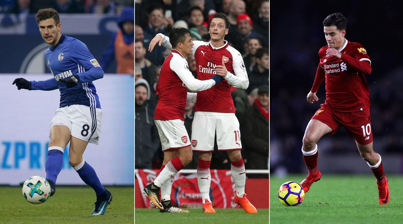 Leon Goretzka, Mesut Ozil, Alexis Sanchez and Philippe Coutinho are names to watch in the January transfer window