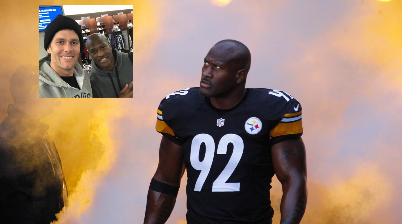 huge selection of 84b1b ad08d James Harrison's odd move from Steelers to Patriots | SI.com