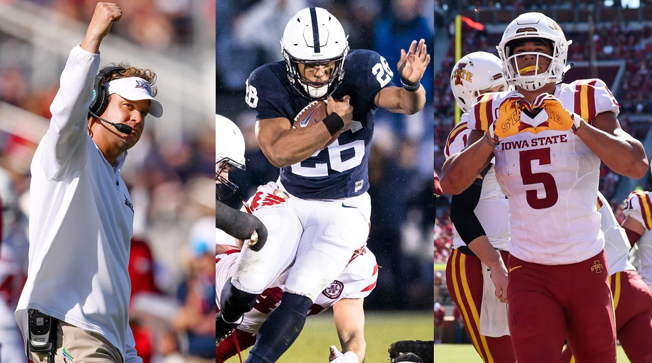 College football 2017 awards: Saquon Barkley, Lane Kiffin, Khalil Tate and more