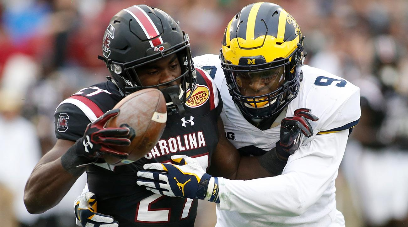 Outback Bowl: Michigan loses to South Carolina, spoils Big Ten's month