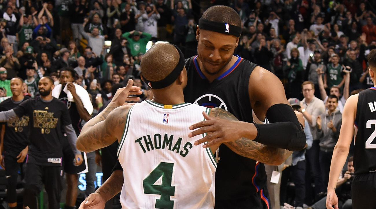 Paul Pierce doesn't embrace sharing night with Isaiah Thomas