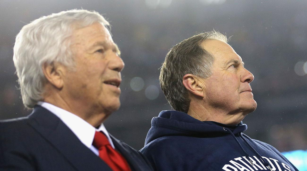 Robert Kraft and Bill Belichickafter the Patriots' Super Bowl 51 victory.