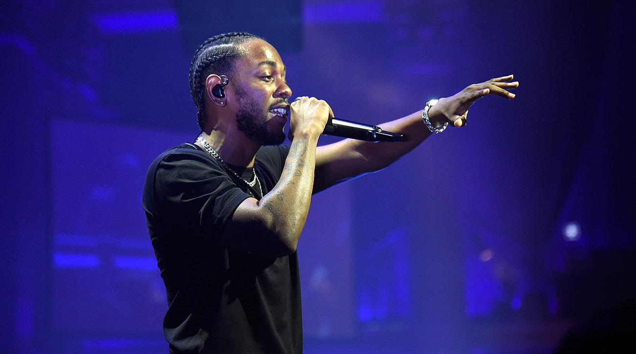 Kendrick Lamar Performs During Halftime Of National Championship Game