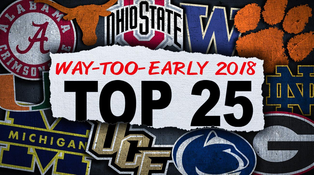 2018 college football top 25 rankings: Way-too-early polls for next season