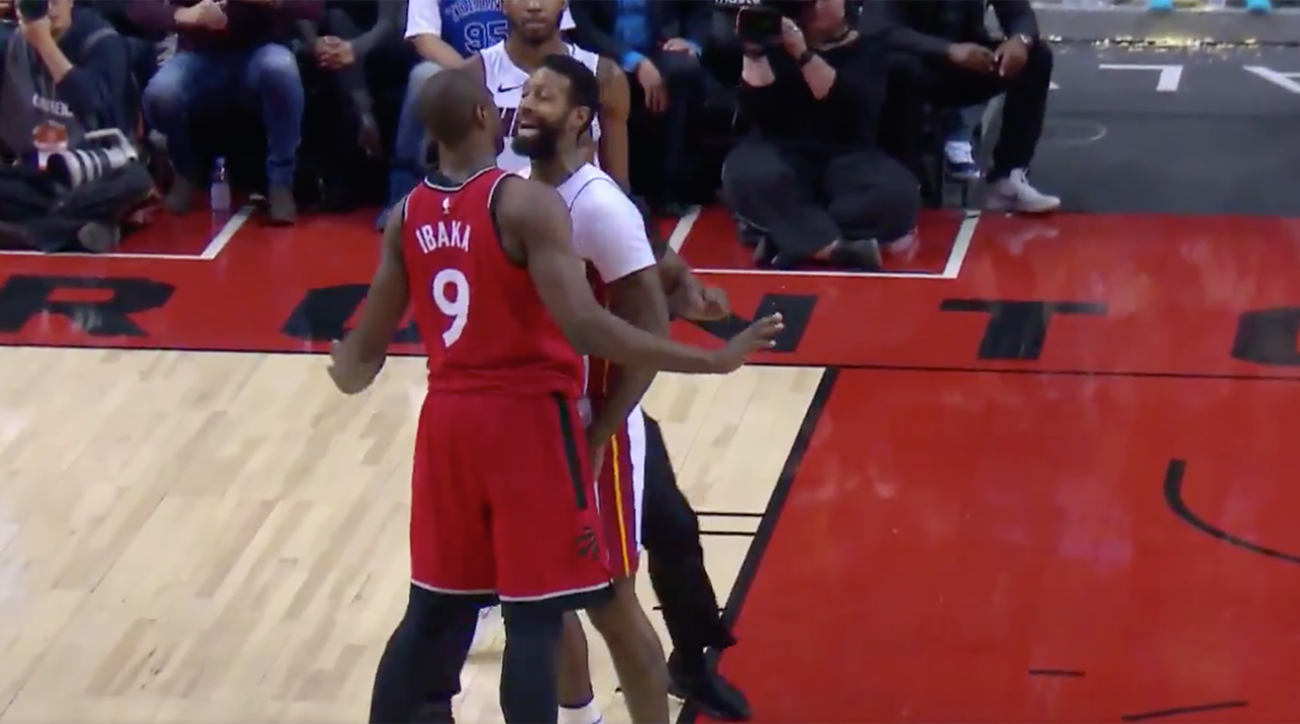 Ibaka, Johnson ejected in Raptors' loss to Heat