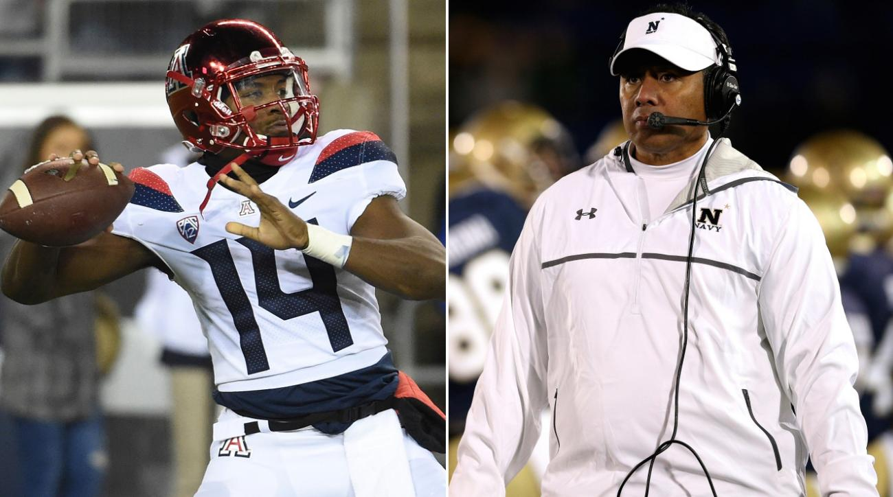 Navy's Ken Niumatalolo emerges as top candidate at Arizona, report says