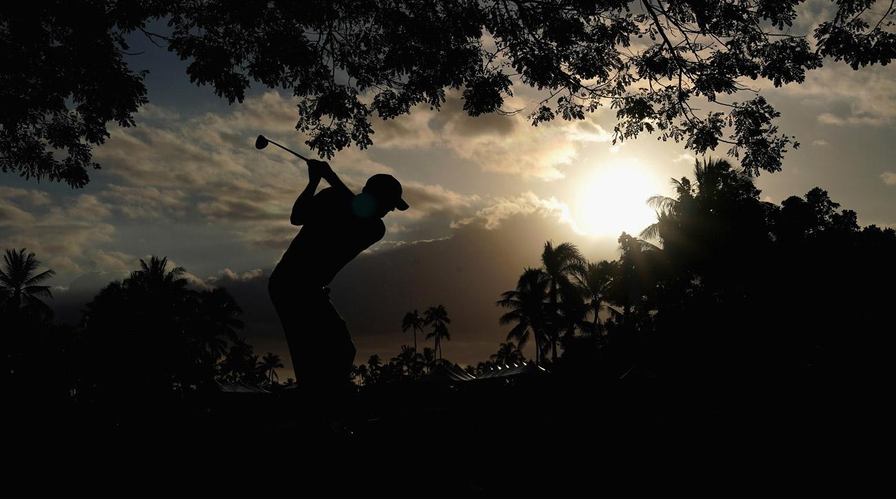 Tom Hoge plays a shot on the 18th hole during round three of the Sony Open In Hawaii at Waialae Country Club.