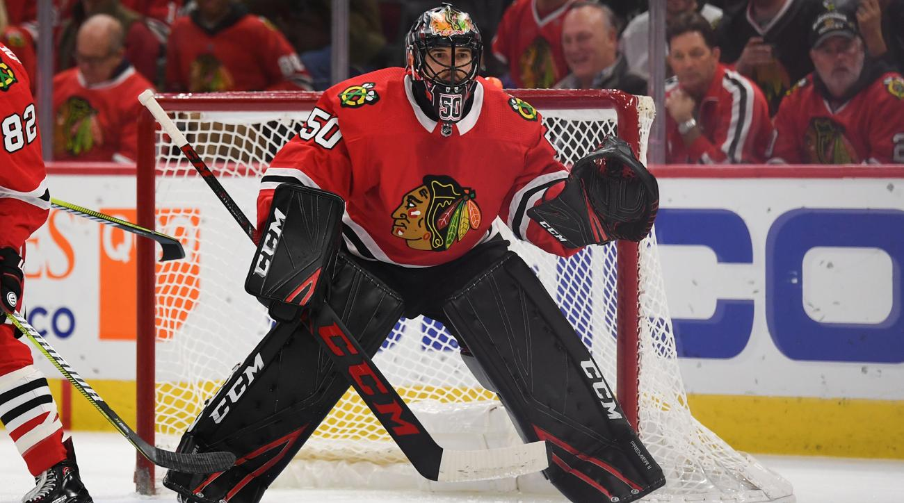 Corey Crawford is reportedly dealing with vertigo and the team fears he might be done for the season.