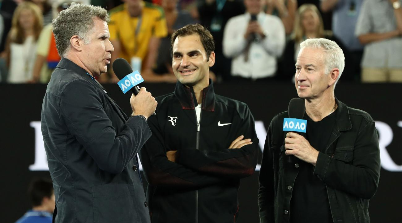 Will Ferrell Interrupts Roger Federer Interview, Goes Full Ron Burgundy