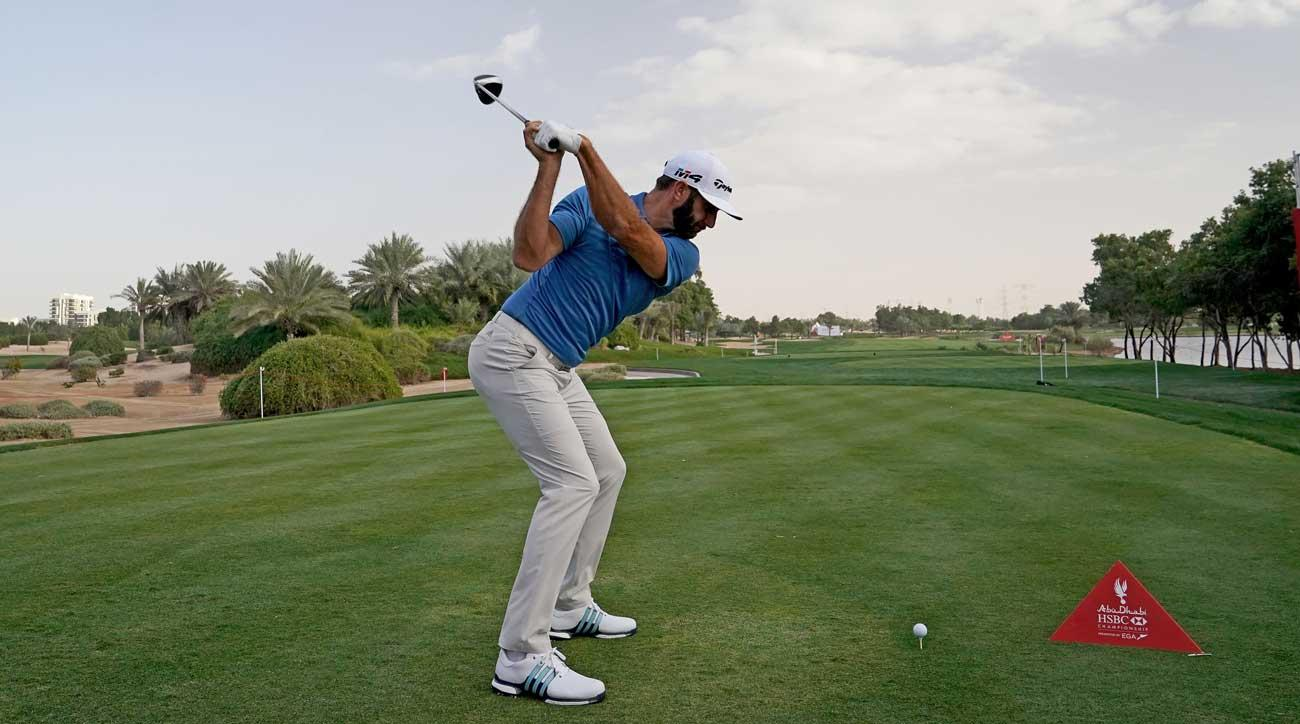Dustin Johnson will tee it up (and let it fly) in Abu Dhabi this week.
