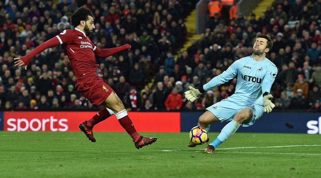 Mohamed Salah is scoring faster than any Liverpool player of the Premier League era