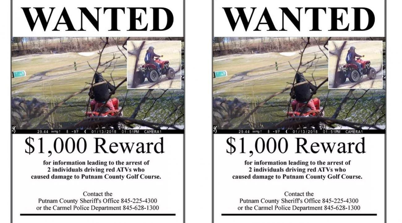 Vandals were caught on camera driving ATVs on Putnam County Golf Course