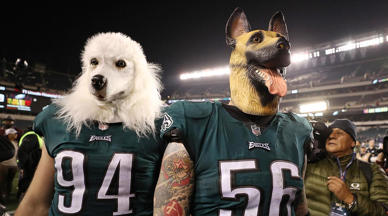 Beau Allen (left) and Chris Long (right) celebrated their NFC title game victory in underdog style.