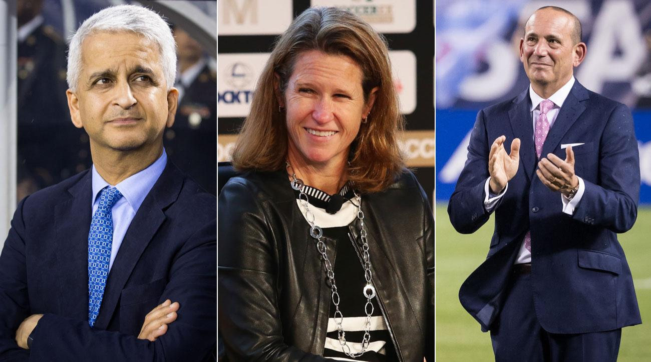 Sunil Gulati, Kathy Carter and Don Garber all have important roles in American soccer