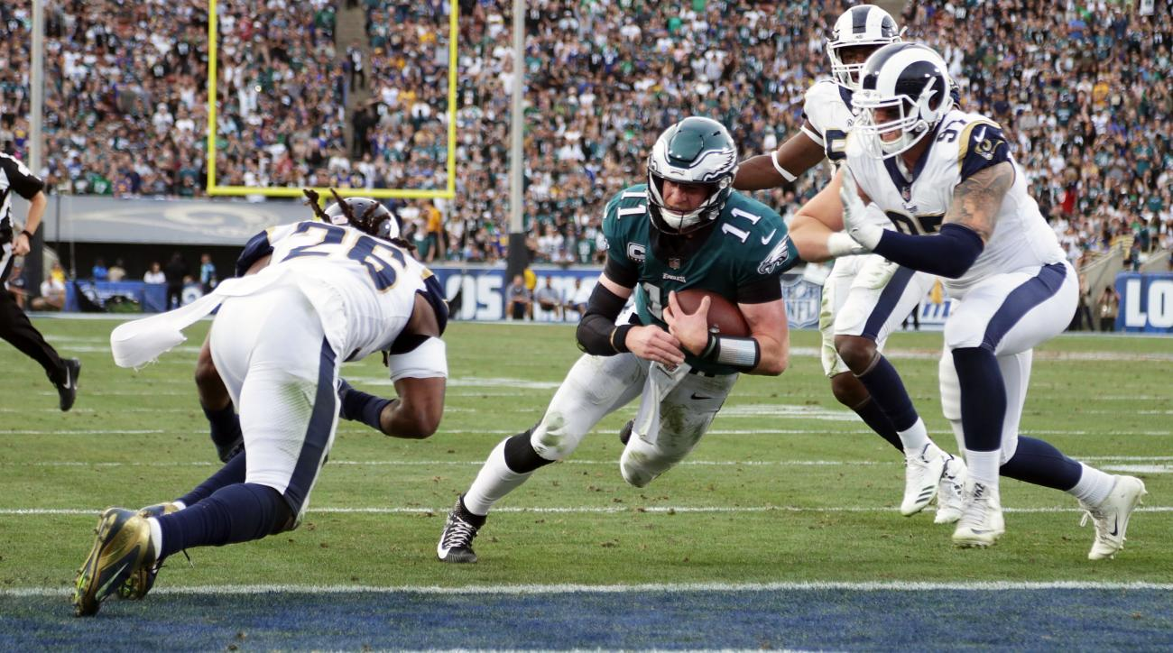 Carson Wentz, Todd Gurley named FedEx Air and Ground players of the year