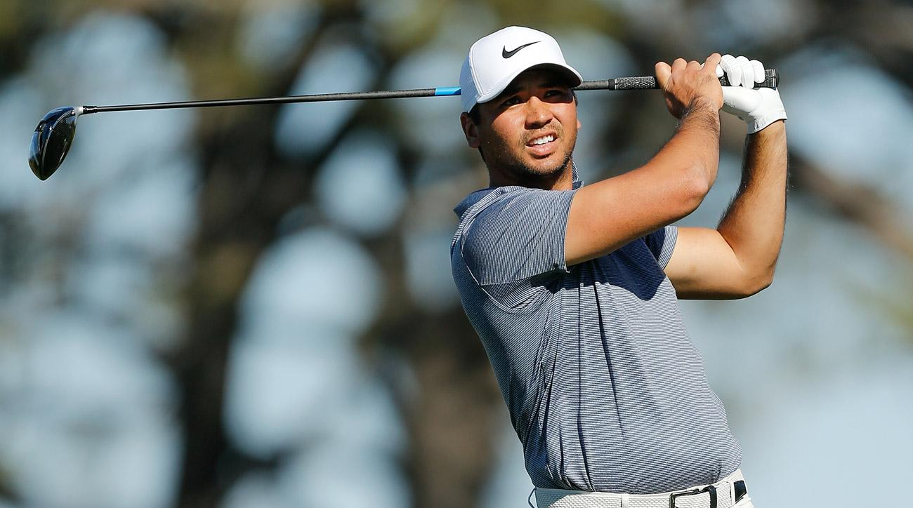 Jason Day plays his shot from the fifth tee during the final round of the Farmers Insurance Open at Torrey Pines.