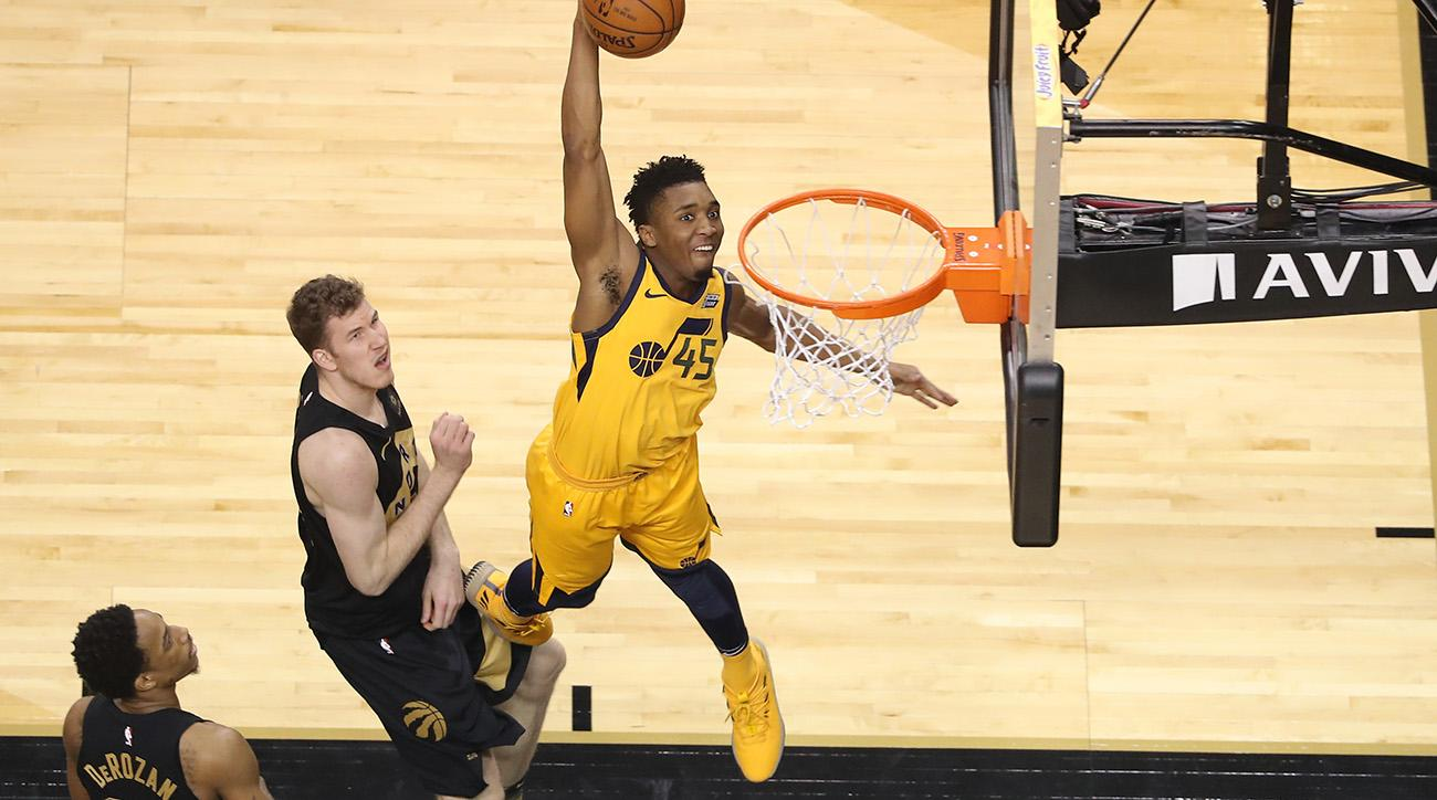 Donovan Mitchell will replace Aaron Gordon in the NBA Dunk Contest