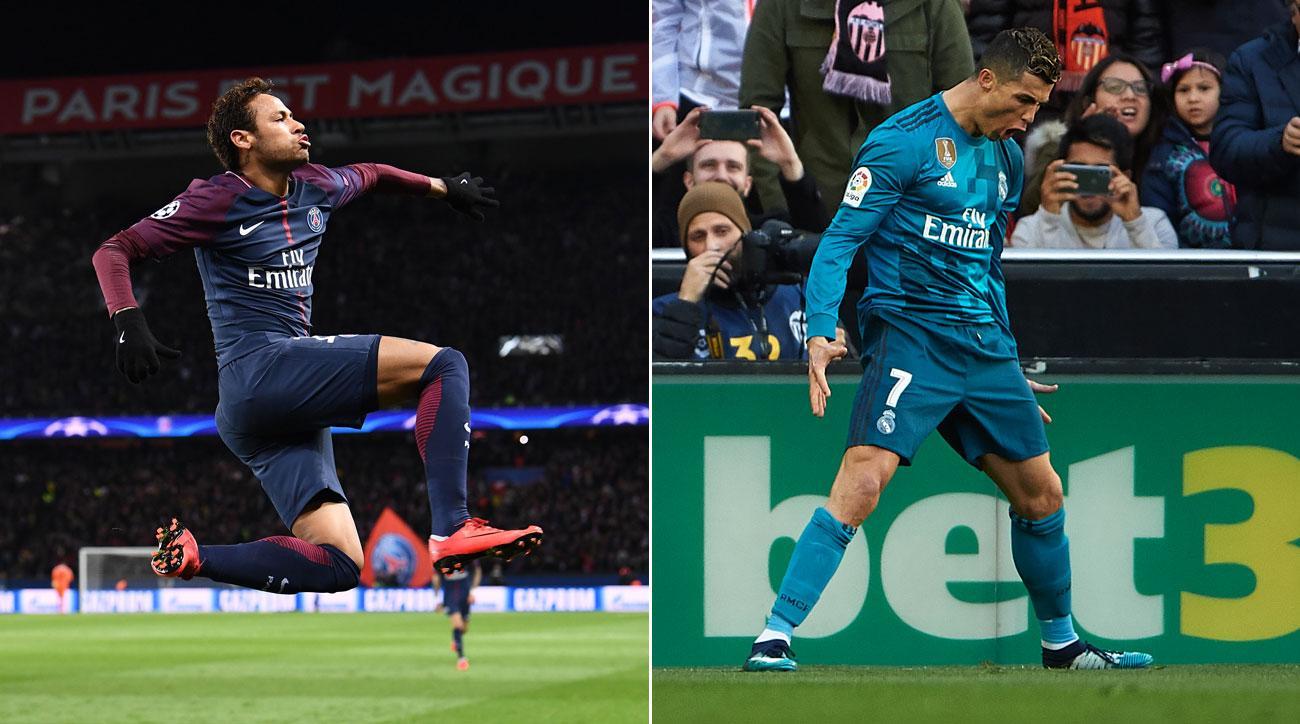 Neymar and Cristiano Ronaldo share a birthday