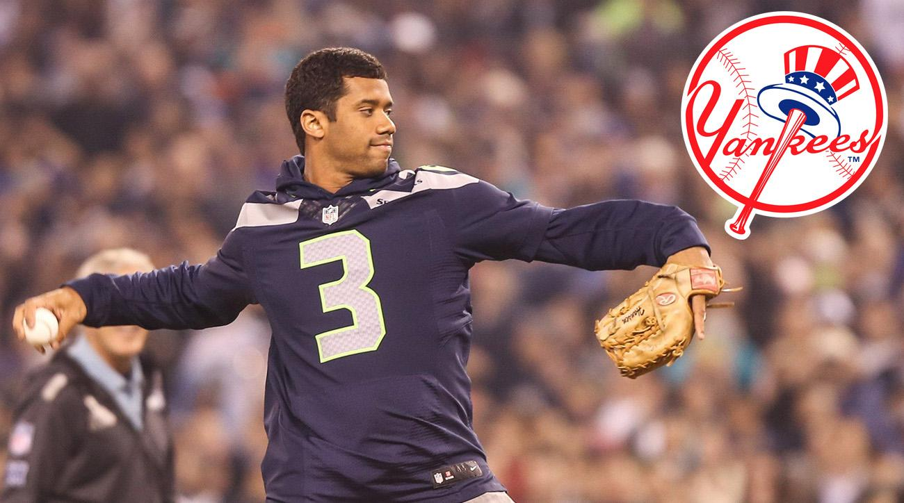 77dc35124feeb Russell Wilson s Baseball Rights Traded to Yankees