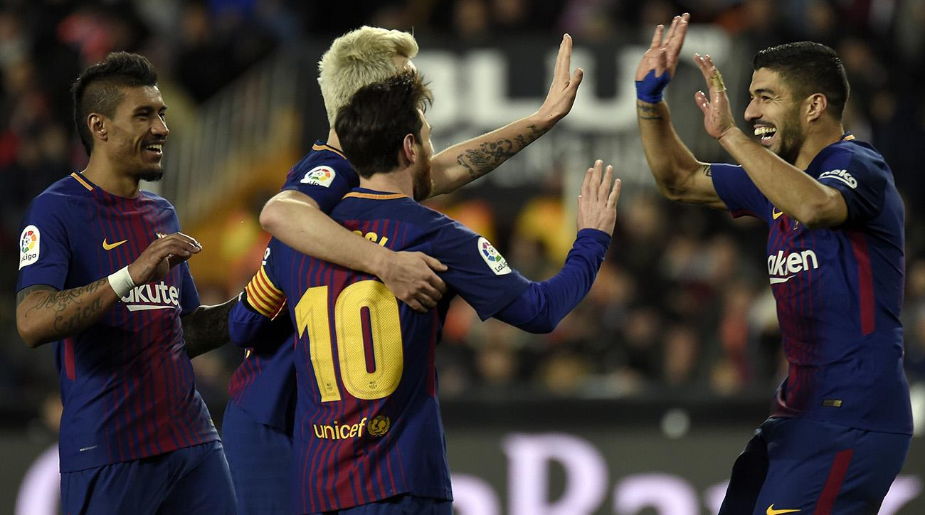 Philippe Coutinho scores first Barcelona goal with help of Luis Suarez assist