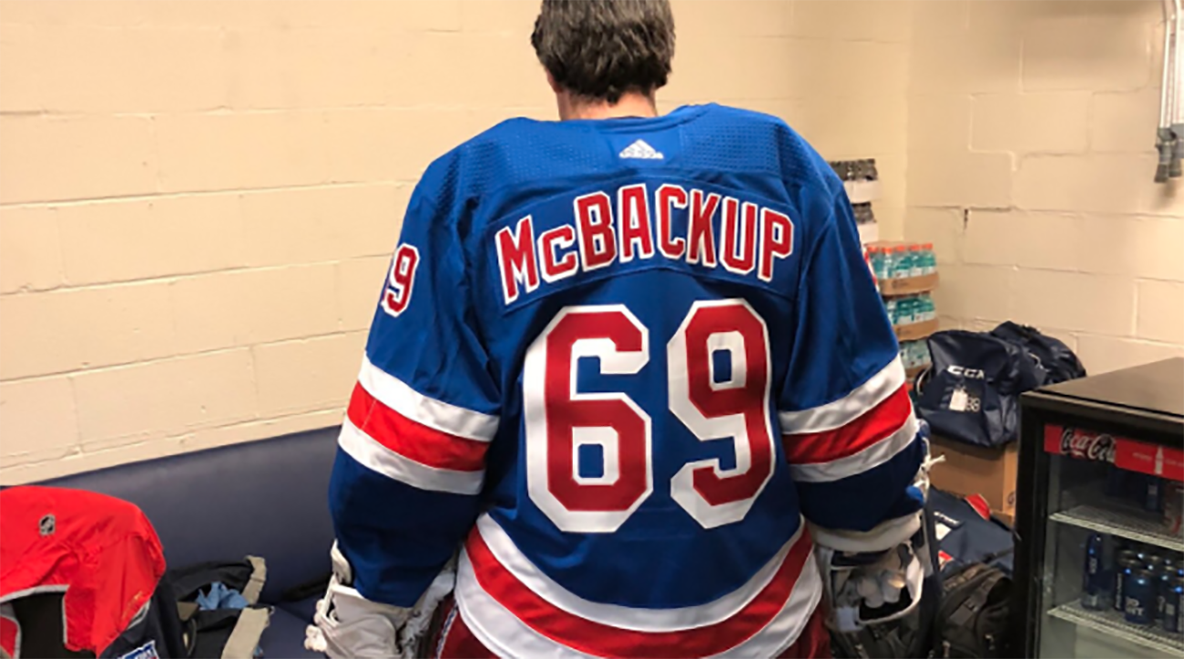 a9a9c750e New York Rangers  Emergency goalie gets  McBackup  uniform