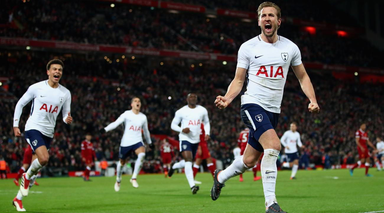 Kane equals English record with Champions League goal