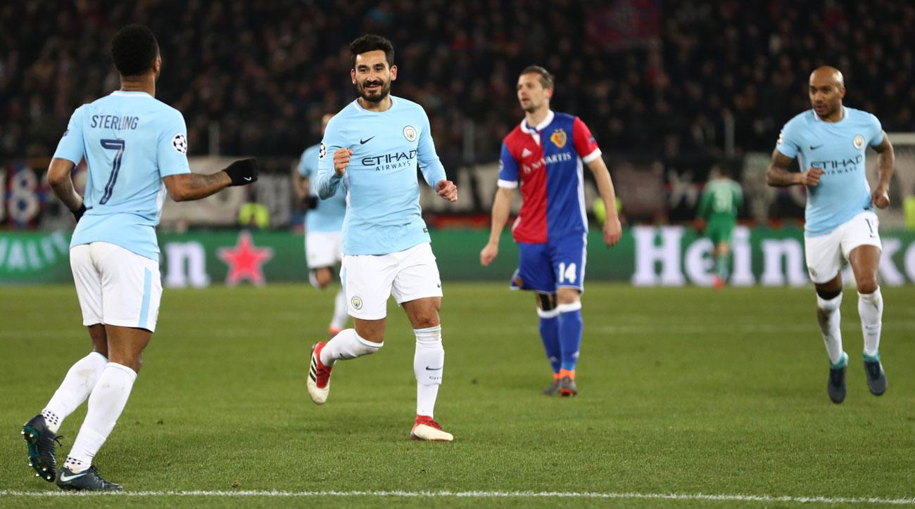 City slickers bury Basel, on the verge of the Champions League quarters