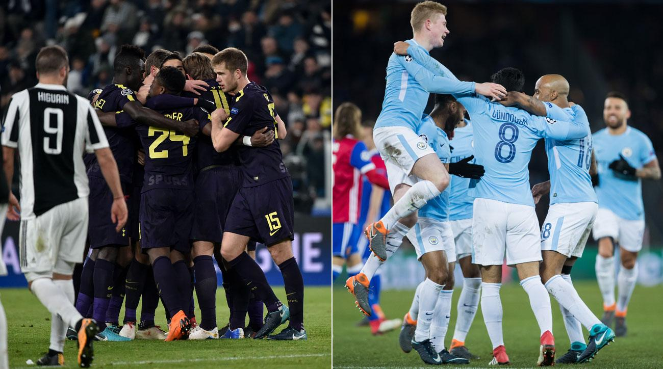 Tottenham forced Juventus to a 2-2 draw, while Manchester City rolled FC Basel in the Champoins League