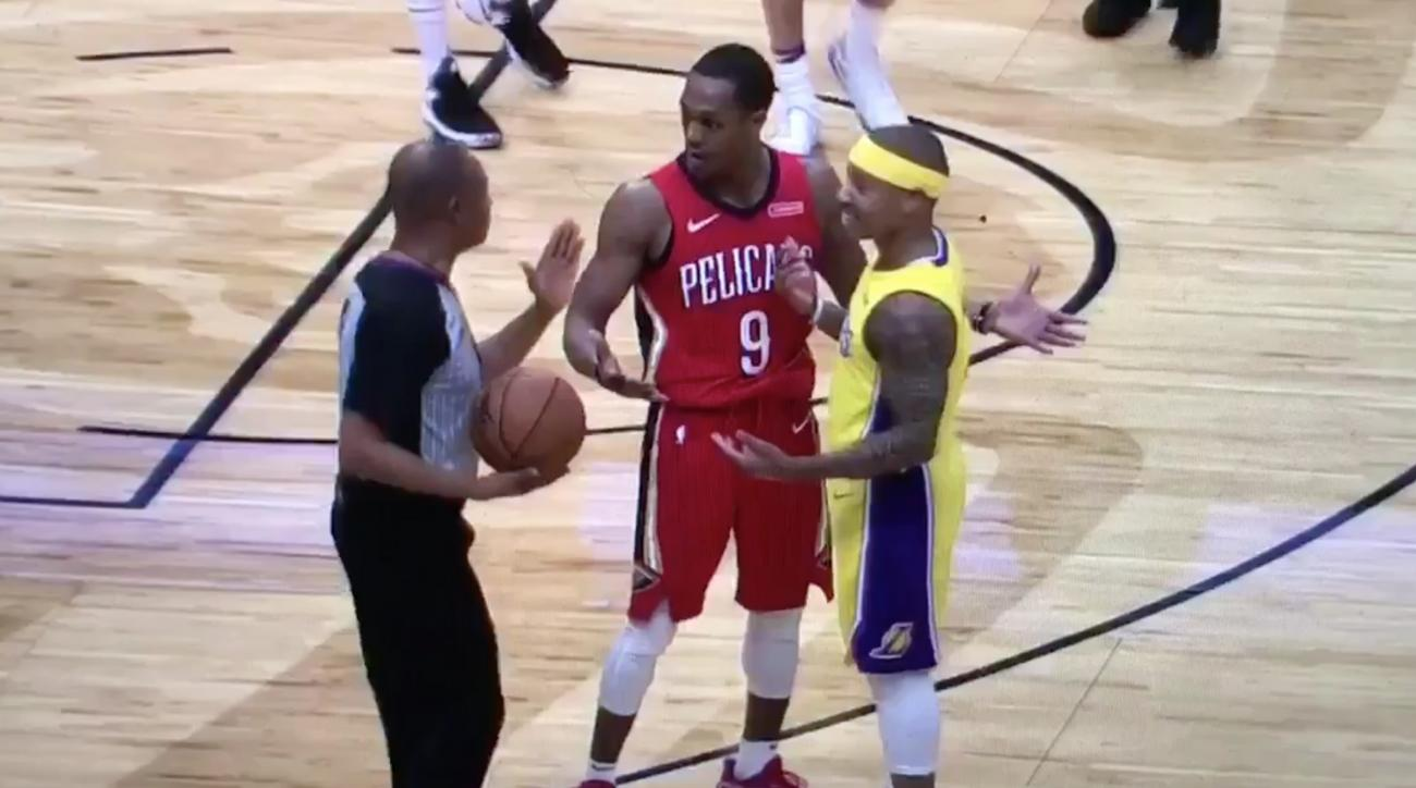 Pel's Rajon Rondo, Lakers' Isaiah Thomas ejected after altercation