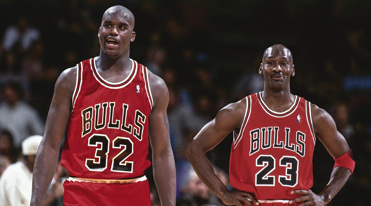 100% authentic 4e1ce c16cc Shaq jokes about joining with Michael Jordan on the Bulls ...