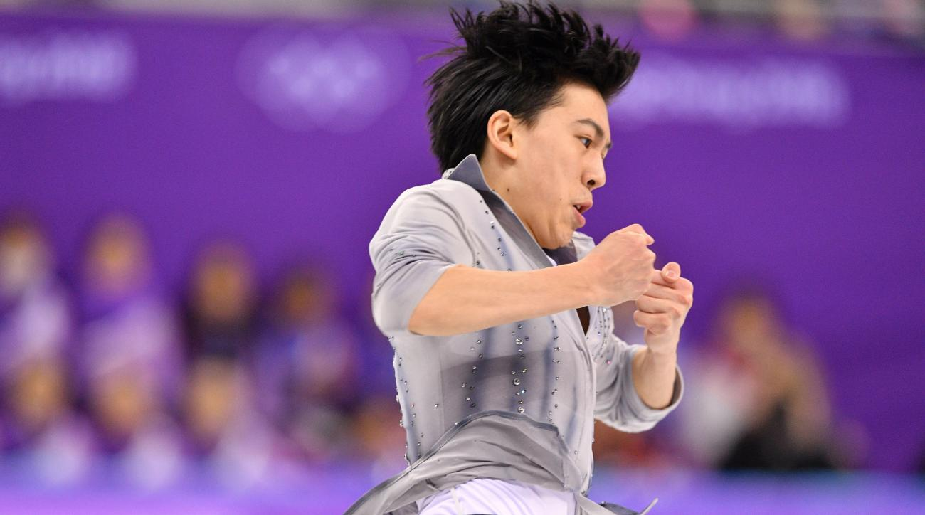 American Vincent Zhou first figure skater to land quad in Olympic competition