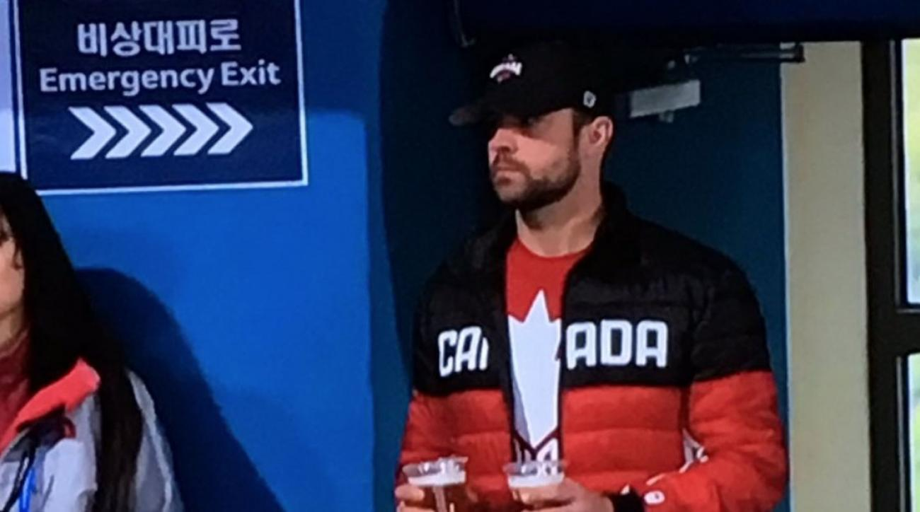 Canadian Curler Rachel Homan's Husband Double-Fists Beers at 9 AM