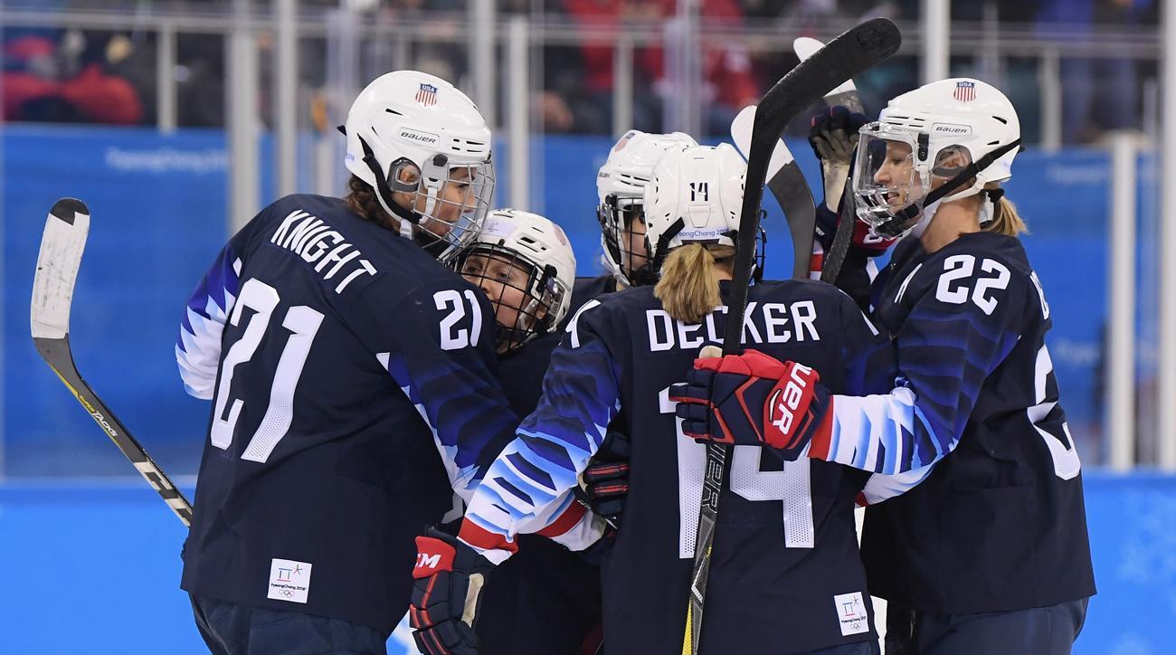 usa beats finland olympic hockey womens semifinal