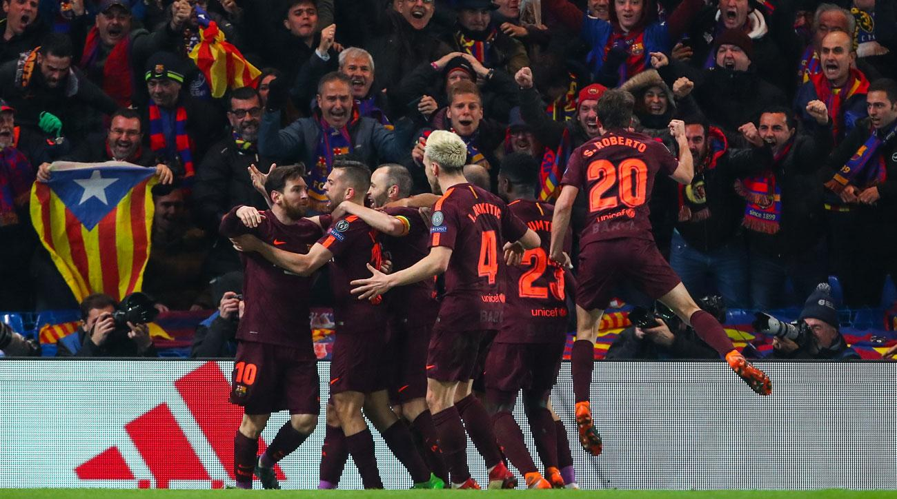 Chelsea 1, Barcelona 1: Messi equalizes after Willian goal ...