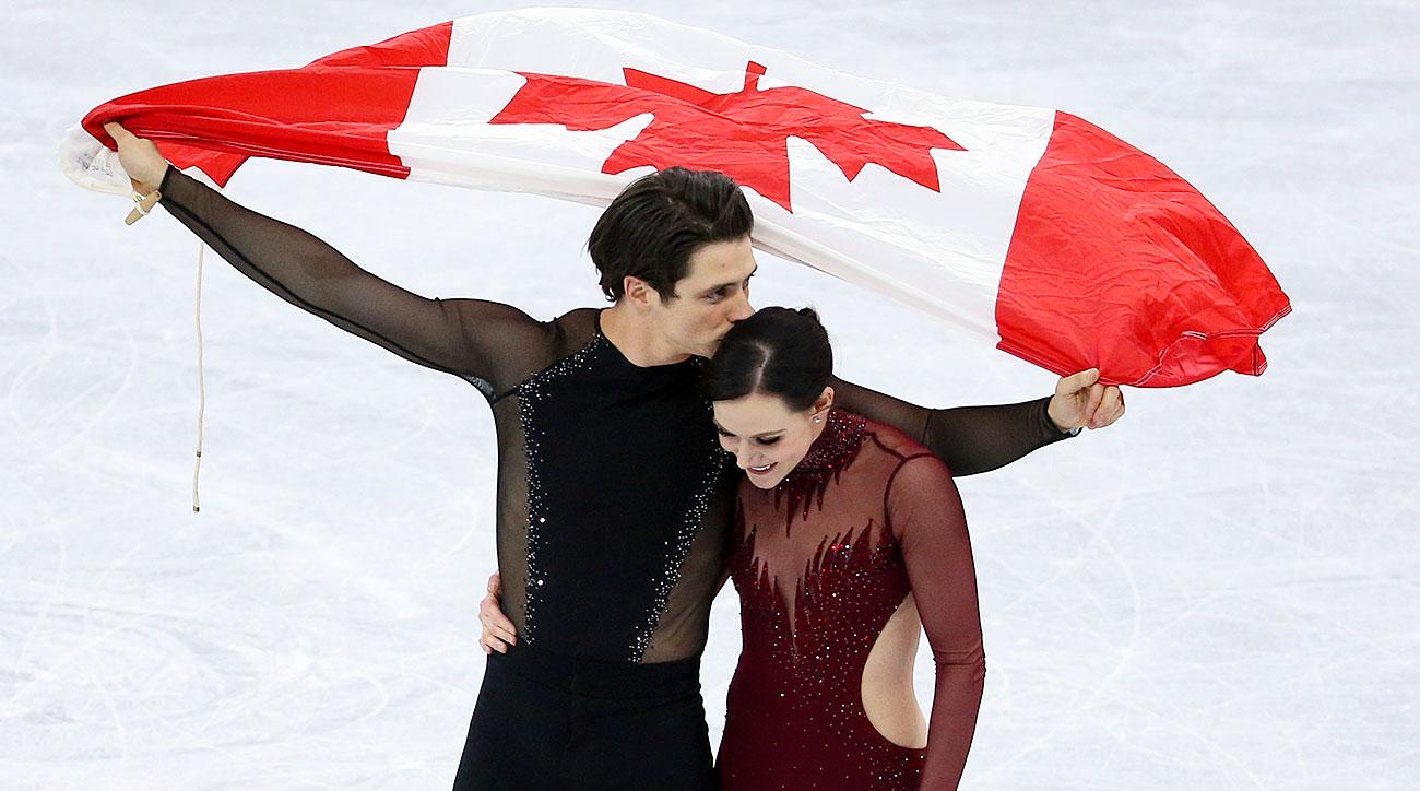 Canadian gold medalist ice dancers Scott Moir and Tessa Virtue