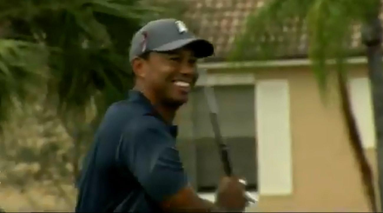 Watch the video of Tiger's wild drive below.