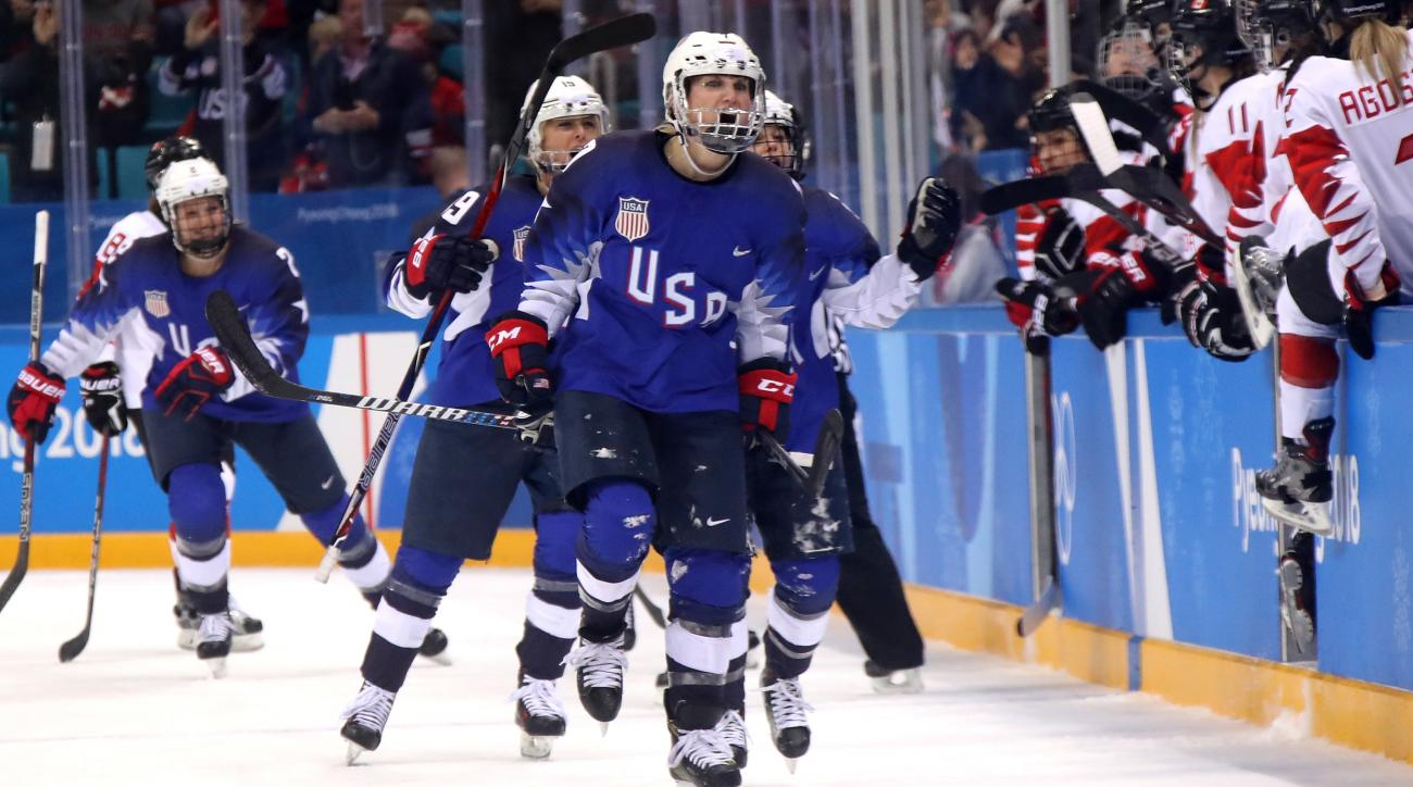US Women Defeat Team Canada To Win Ice Hockey Olympic Gold