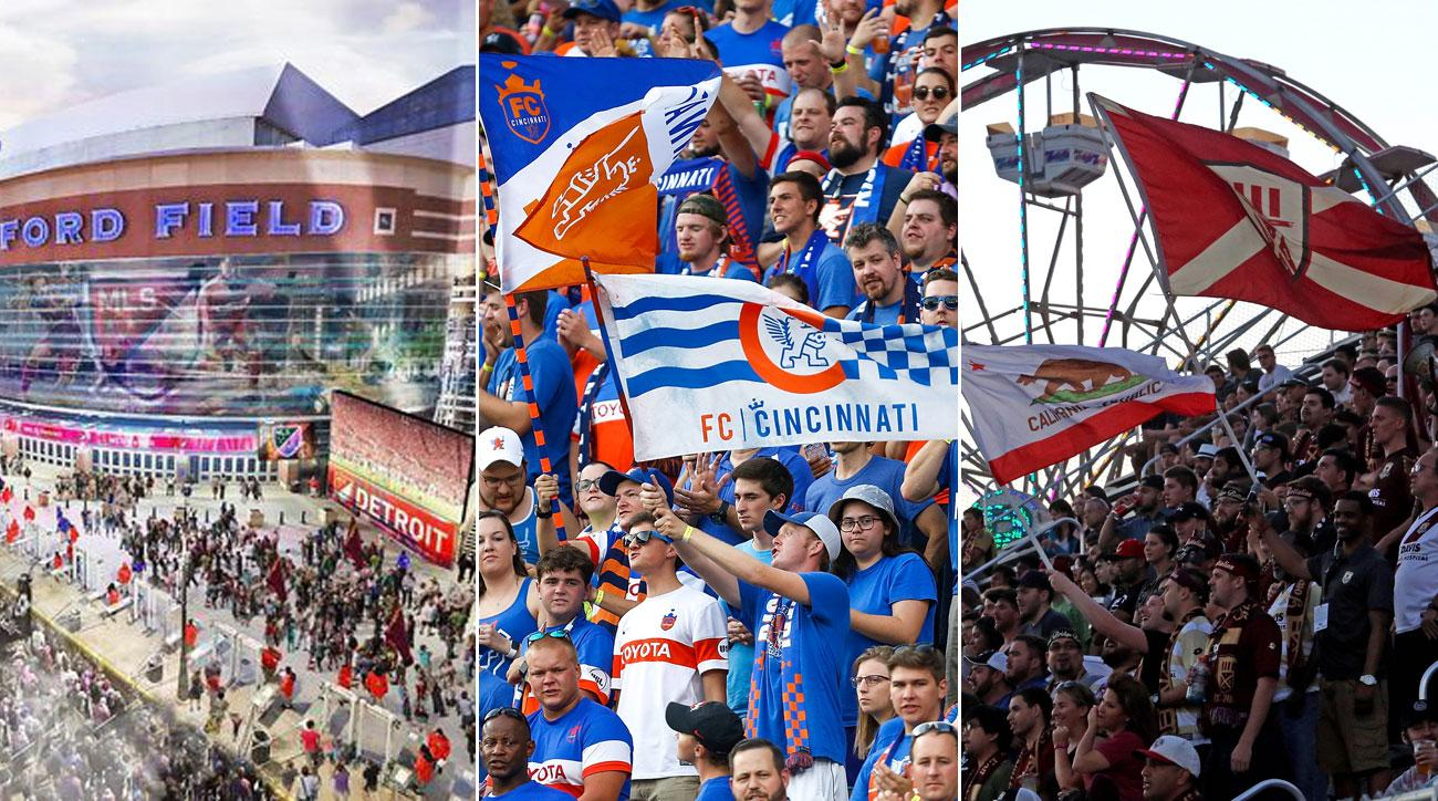 Detroit, Sacramento and Cincinnati are all vying for an MLS expansion franchise