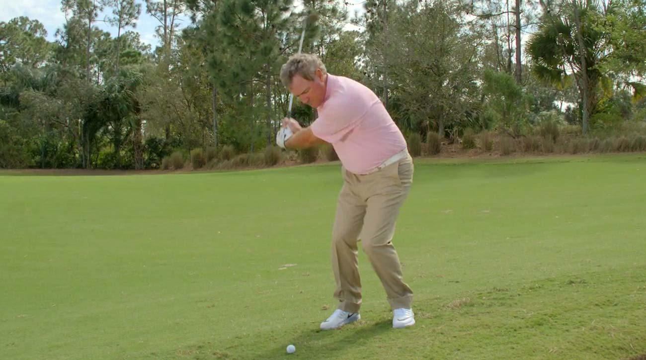 How to hit a flop shot without thinking.