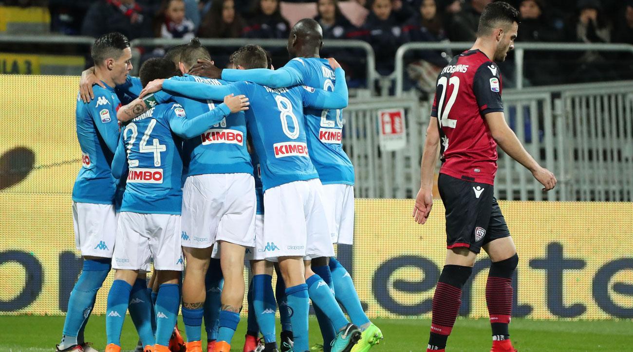Napoli crush Cagliari, extend Serie A lead