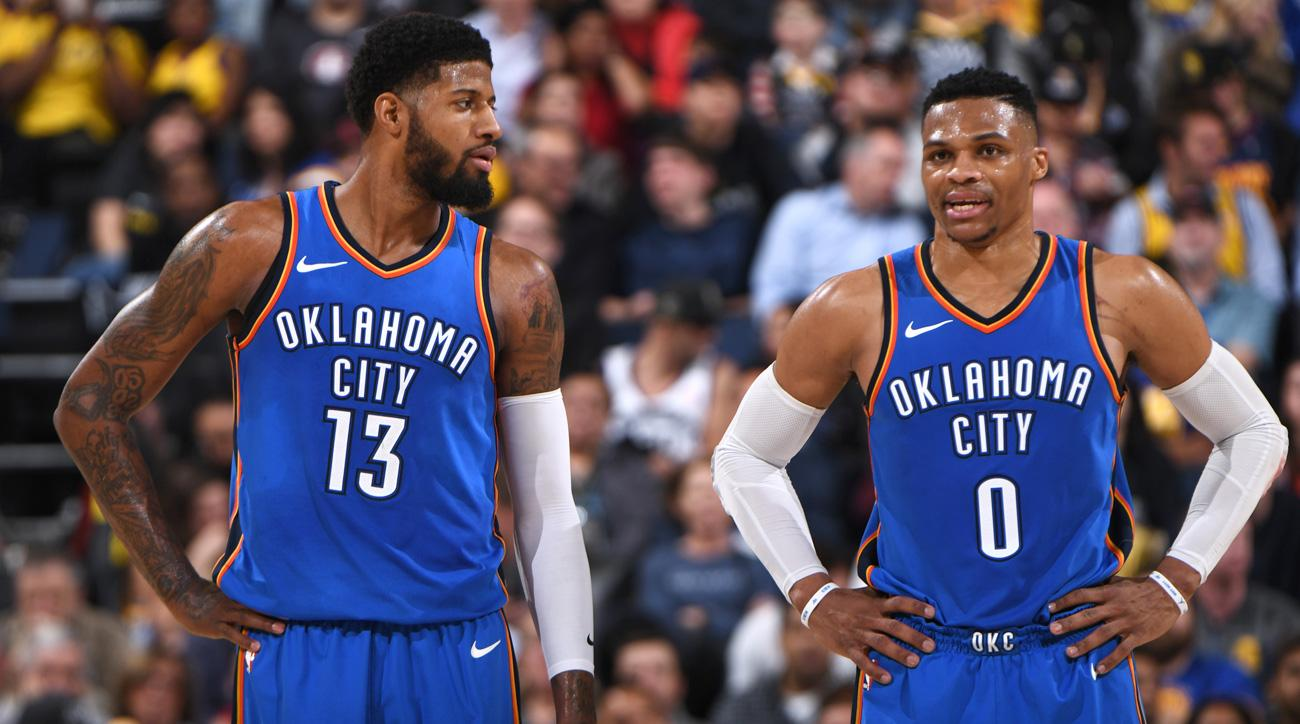 Image result for paul george and russell westbrook